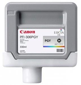 Canon oryginalny wkład atramentowy / tusz PFI306PGY. photo grey. 330ml. 6667B001. ploter iPF-8300 6667B001