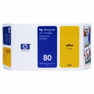 HP oryginalny wkład atramentowy / tusz C4848A. No.80. yellow. 350ml. HP DesignJet 1050. C. 1055. C. CM C4848A