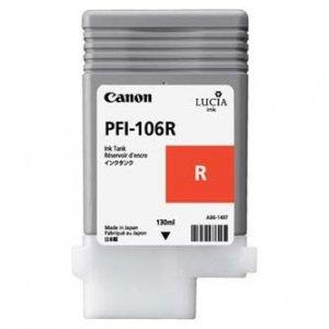 Canon oryginalny wkład atramentowy / tusz PFI106R. red. 130ml. 6627B001. ploter iPF-6300 6627B001