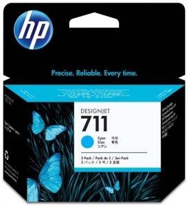 HP oryginalny wkład atramentowy / tusz CZ134A. No.711. cyan. 3ž29ml. 3szt. HP Deskjet T120. T520 CZ134A