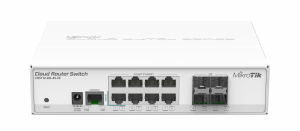 Cloud Router Switch CRS112-8G-4S-IN 400MHZ, 128MB, 8XGE, 4XSFP, 1XSERIAL -RJ45, L5 MT CRS112-8G-4S-IN