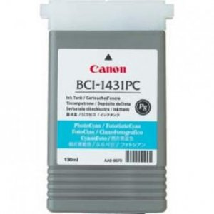 Canon oryginalny wkład atramentowy / tusz BCI1431PC. photo cyan. 8973A001. Canon W6200. 6400P 8973A001