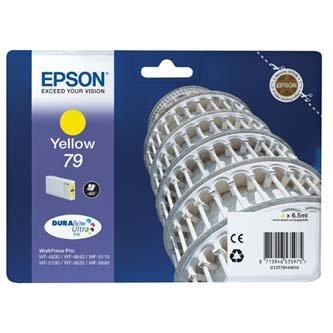 Epson oryginalny wkład atramentowy / tusz C13T79144010. 79. L. yellow. 800s. 7ml. 1szt. Epson WorkForce Pro WF-5620DWF. WF-5110DW. WF-5690DWF C13T79144010