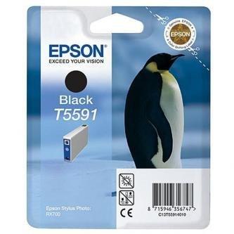 Epson oryginalny wkład atramentowy / tusz C13T55914010. black. 13ml. Epson Stylus Photo RX700 C13T55914010