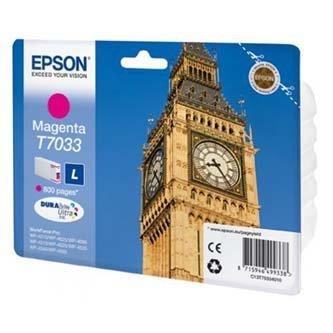 Epson oryginalny wkład atramentowy / tusz C13T70334010. L. magenta. 800s. Epson WorkForce Pro WP4000. 4500 series C13T70334010