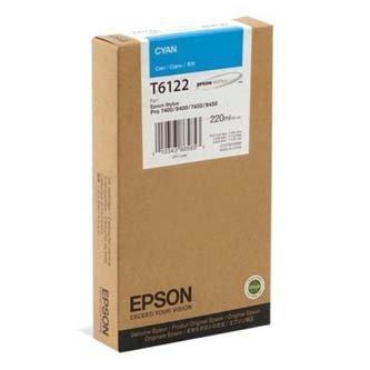 Epson oryginalny wkład atramentowy / tusz C13T612200. cyan. 220ml. Epson Stylus Pro 7400. 7450. 9400. 9450