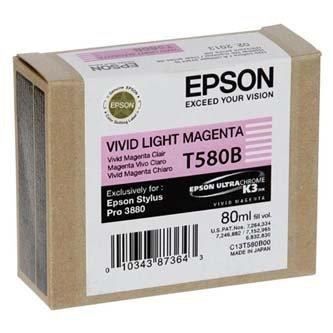 Epson oryginalny wkład atramentowy / tusz C13T580B00. light vivid magenta. 80ml. Epson Stylus Pro 3800 C13T580B00