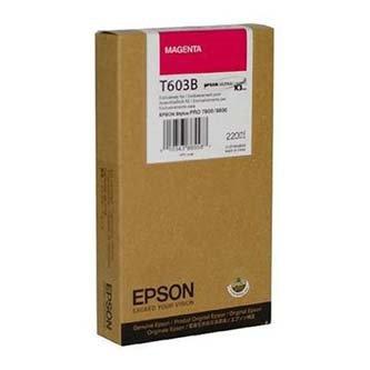 Epson oryginalny wkład atramentowy / tusz C13T603B00. magenta. 220ml. Epson Stylus Pro 7800. 9800 C13T603B00