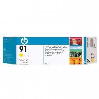 HP oryginalny wkład atramentowy / tusz C9485A. No.91. yellow. 775ml. 3szt. HP Designjet Z6100. Designjet Z6100ps C9485A