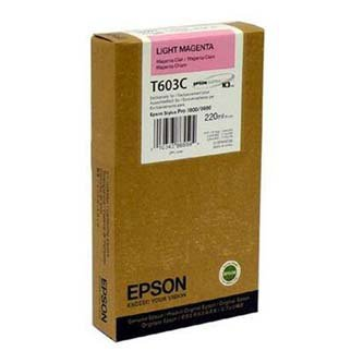 Epson oryginalny wkład atramentowy / tusz C13T603C00. light magenta. 220ml. Epson Stylus Pro 7800. 9800