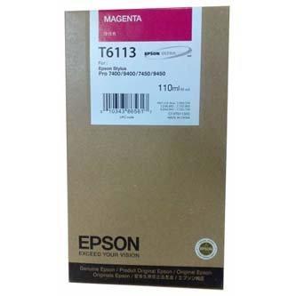 Epson oryginalny wkład atramentowy / tusz C13T611300. magenta. 110ml. Epson Stylus Pro 7400. 7450. 9400. 9450 C13T611300