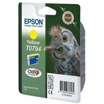Epson oryginalny wkład atramentowy / tusz C13T079440. yellow. 11.1ml. Epson Stylus Photo 1400 C13T07944010