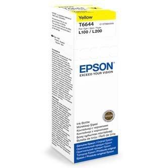 Epson oryginalny wkład atramentowy / tusz C13T66444A. yellow. 70ml. Epson L100. L200. L300 C13T66444A