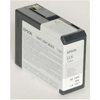 Epson oryginalny wkład atramentowy / tusz C13T580900. light light black. 80ml. Epson Stylus Pro 3800 C13T580900
