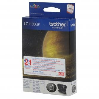 Brother oryginalny wkład atramentowy / tusz LC-1100BK. black. 500s. Brother DCP-6690CW. MFC-6490CW