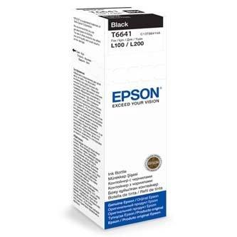 Epson oryginalny wkład atramentowy / tusz C13T66414A. black. 70ml. Epson L100. L200. L300 C13T66414A