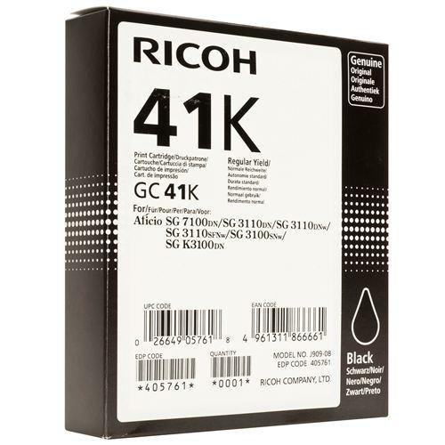 Ricoh oryginalny żelowe wypełnienie 405761. black. 2500s. GC41HK. Ricoh AFICIO SG 2100N
