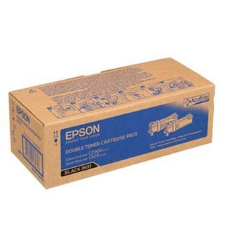 Epson oryginalny toner C13S050631. black. 6000 (2x3000)s. Epson Aculaser C2900N. 2szt C13S050631