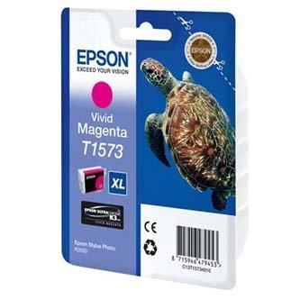 Epson oryginalny wkład atramentowy / tusz C13T15734010. vivid magenta. 25.9ml. Epson Stylus Photo R3000 C13T15734010