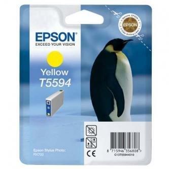 Epson oryginalny wkład atramentowy / tusz C13T55944010. yellow. 13ml. Epson Stylus Photo RX700 C13T55944010