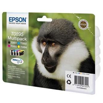 Epson oryginalny wkład atramentowy / tusz C13T08954010. CMYK. 3x3.5/5.8ml. Epson Stylus S20. SX100. SX200. SX400 C13T08954010