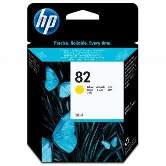 HP oryginalny wkład atramentowy / tusz CH568A. No.82. yellow. 28ml. HP HP DesignJet 510 CH568A