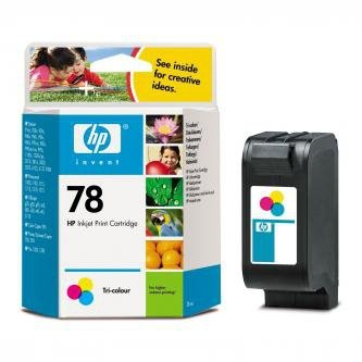 HP oryginalny wkład atramentowy / tusz C6578DE. No.78. color. 450s. 19ml. HP DeskJet 970Cxi. 940. psc 750. 950. 1215. P1100 C6578D