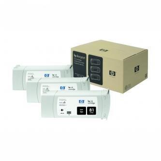HP oryginalny wkład atramentowy / tusz C4930A. No.81. black. 680ml. HP DesignJet 5000. PS. UV. 5500. PS. UV C4930A