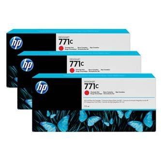HP oryginalny wkład atramentowy / tusz B6Y32A. No.771C. chromatic red. 3szt. HP Designjet Z6200 B6Y32A