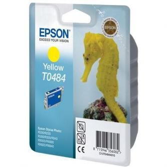 Epson oryginalny wkład atramentowy / tusz C13T048440. yellow. 430s. 13ml. Epson Stylus Photo R200. 220. 300. 320. 340. RX500. 600 C13T04844010