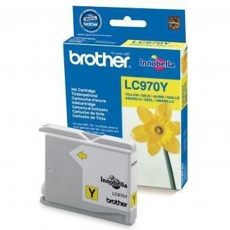 Brother oryginalny wkład atramentowy / tusz LC-970Y. yellow. 300s. Brother DCP-135C. 150C. MFC-235C. 260C