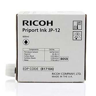 Ricoh oryginalny wkład atramentowy / tusz JP 12. black. 600ml. 817104. Ricoh DX3240. 3440. JP1210. 1215. 1250. 1255. 3000 817104