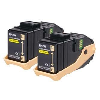 Epson oryginalny toner C13S050606. yellow. 15000s. Epson Aculaser C9300N. Dual pack dwupack C13S050606