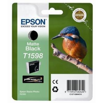 Epson oryginalny wkład atramentowy / tusz C13T15984010. matte black. 17ml. Epson Stylus Photo R2000 C13T15984010