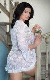 xEmilie - Plus Size - white 1780 peniuar i stringi