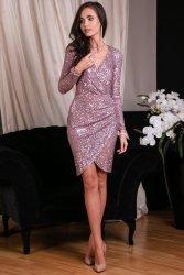 Sukienka 0265 Różowa Roco Fashion