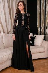 Sukienka 0275 F07 Czarna Roco Fashion