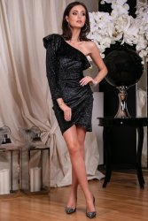 Sukienka 0263 F01 Czarna Roco Fashion