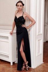 Sukienka 0269 Czarna Roco Fashion