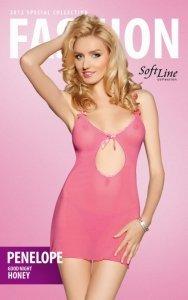 xPenelope - pink 1020 koszulka i stringi