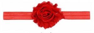 1 kIDS opaska na głowę kwiat czerwona