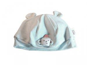 1 kIDS czapeczka niemowlęca z uszkami niebieska
