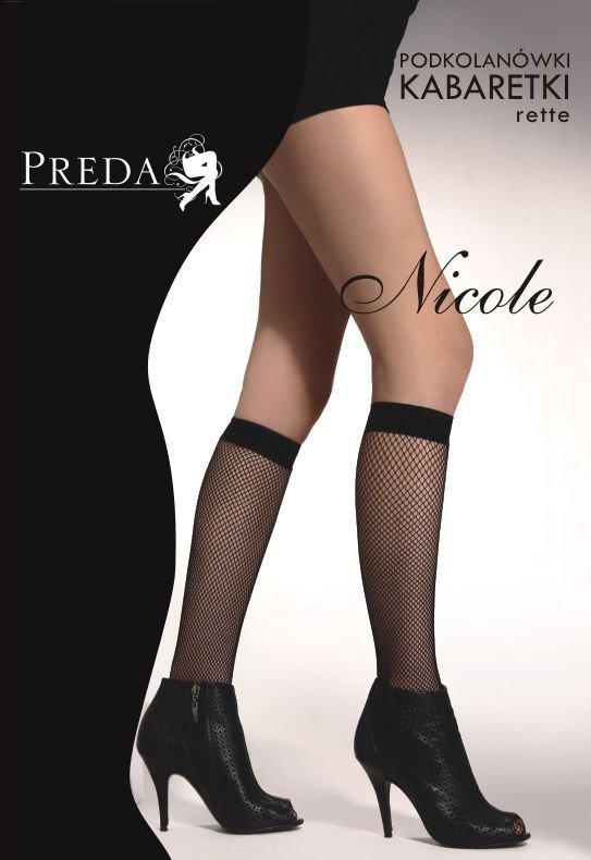 1 Podkolanówki kabaretki Nicole 2 pary PROMO