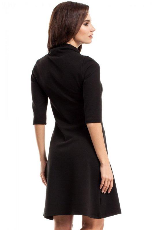 MOE279 sukienka czarny