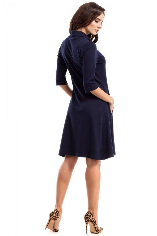 MOE279 sukienka granatowa