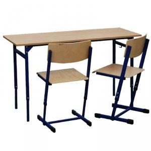 Zestaw - stół Leon z reg. wys. 1-5, z krzesłami Reks z reg. wys. 3-4