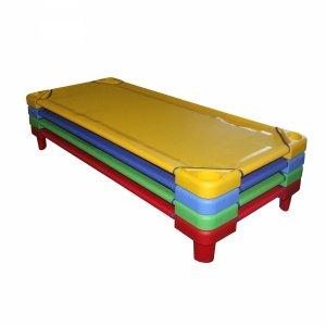 Leżak przedszkolny zielony