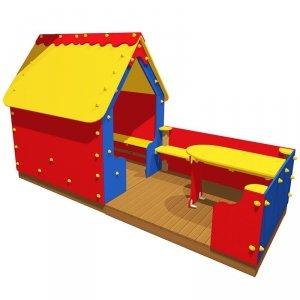 Domek z werandą na plac zabaw