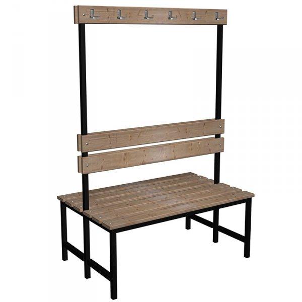 ławka korytarzowo szatniowa classic 2-str. z oparciem i wieszakiem 1m lub 1,5m
