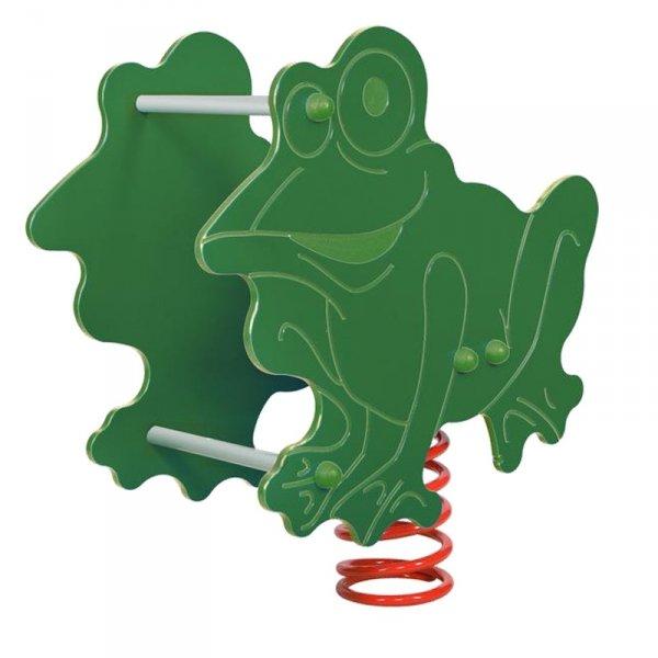 bujak żaba,bujak na plac zabaw,bujak,sprężynowiec żaba
